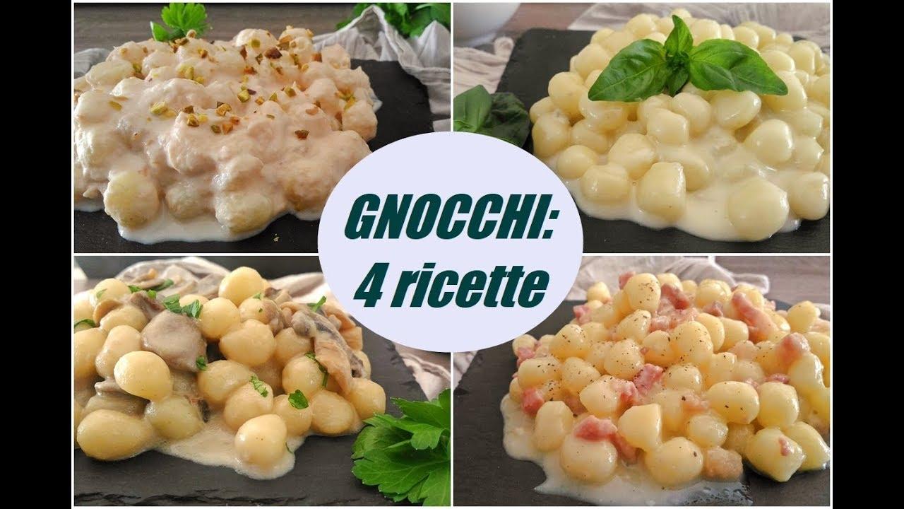 Ricetta Sugo Bianco Per Gnocchi.Gnocchi 4 Ricette Youtube