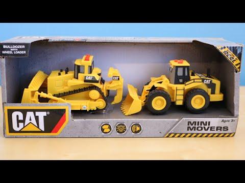 CAT Construction Toy Trucks Bulldozer Wheel Loader Mini ...