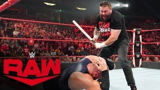 Kevin Owens unloads on Mojo Rawley with steel pipe: Raw, Dec. 9, 2019