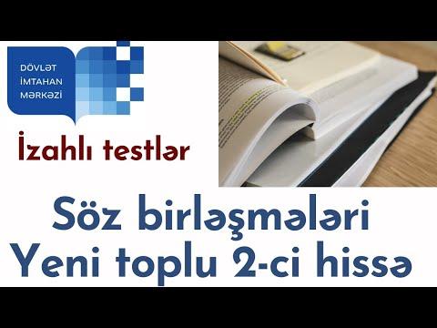 Azərbaycan dili / Test toplusu / Sintaksis / Söz birləşmələri və quruluşuna görə növləri / 1 - 30