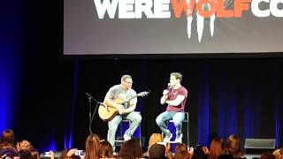 Michael Johnston (Corey from Teen Wolf) singing at WereWolfCon 2017 Brussels