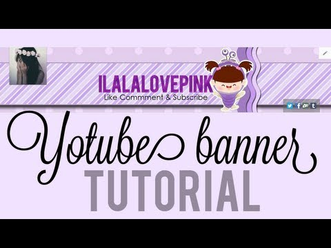 cute youtube banner tutorial ♡ - YouTube