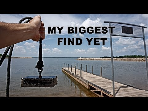 MAGNET FISHING BOAT DOCKS FOR BIG TREASURE
