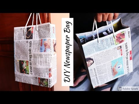 How to Make a Paper Bag with Newspaper – Paper Bag Making Tutorial (Very Easy) | parulpawar