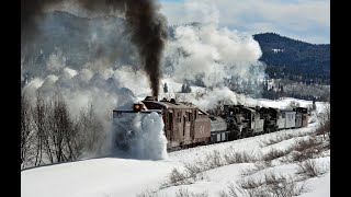 Cumbres and Toltec Rotary steam powered snowplow gets to work 2020 Part 1.