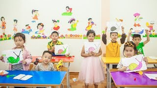 Kids Go To School | Chuns With Best Friends Learn Animal Painting