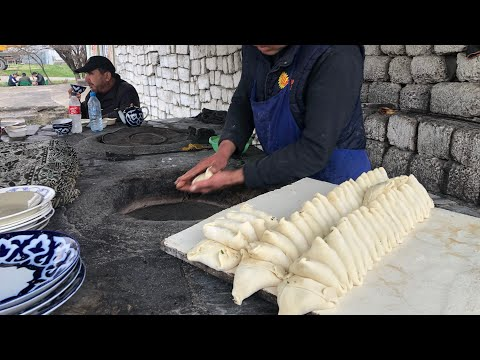 Самаркандский плов!! Сиабский базар. Узбекистан.