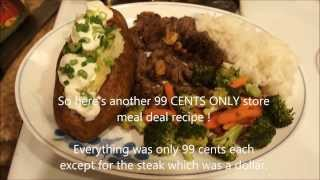 How to BAKE A POTATO - 99 CENTS ONLY store meal deal recipe