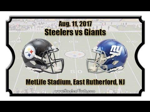 Steelers vs Giants Pre season game!