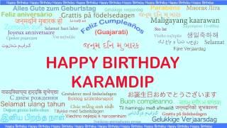 Karamdip   Languages Idiomas - Happy Birthday