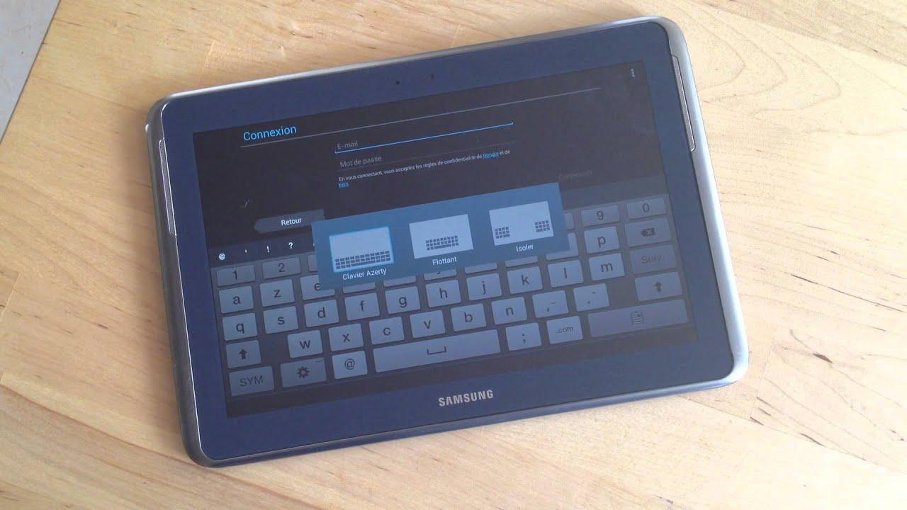 samsung galaxy note 10 1 premier d marrage de la tablette youtube