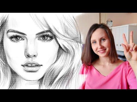 Как нарисовать поэтапно девушку карандашом поэтапно для начинающих видео уроки