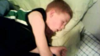 8year old snoring away