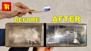 EPIC TOOTHPASTE HEADLIGHT RESTORE!!