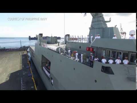 BRP Davao Del Sur, PH Navy's latest ship, arrives in Manila