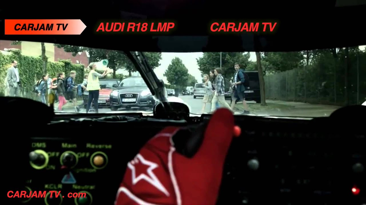 Funny Car Commercials: Audi Taunts Porsche At Their Factory! Great Le Mans