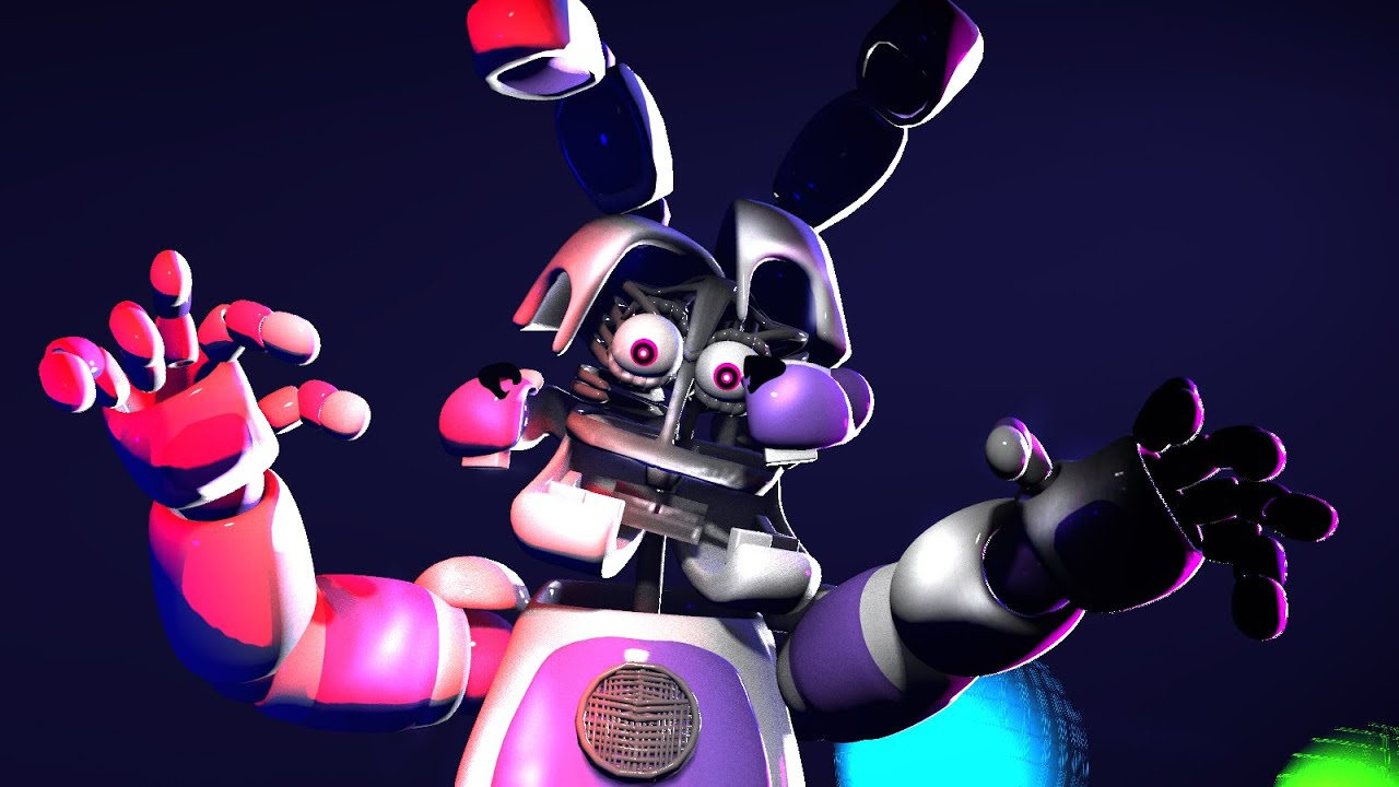 Sfm fnaf funtime bonnie jumpscare death scene sister location