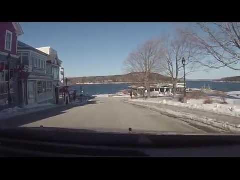 Winter Drive through Bar Harbor