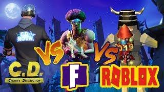 CREATIVE DESTRUCTION VS. FORTNITE VS. ROBLOX (COOLNESS)