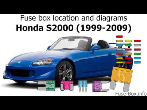 2003 honda s2000 fuse diagram fuse box location and diagrams honda s2000  1999 2009  youtube  honda s2000  1999 2009
