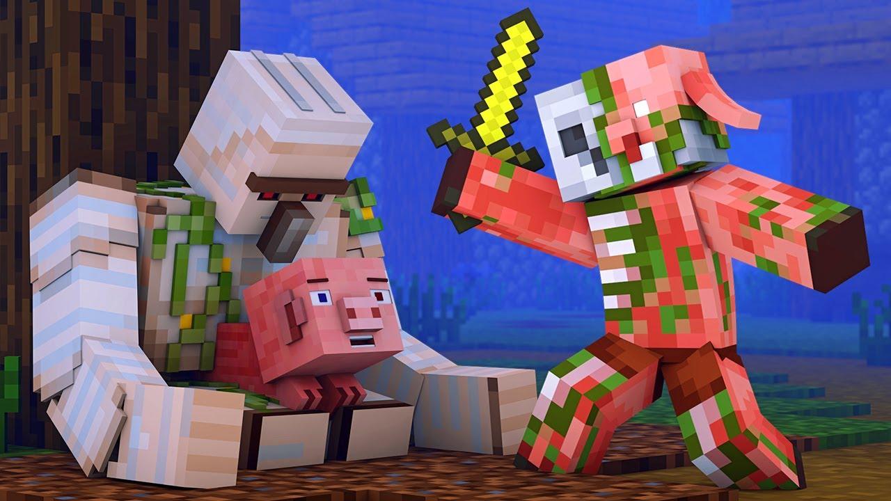 Zombified Piglin Life 11 - R.I.P Zombie Pigman Minecraft Animation