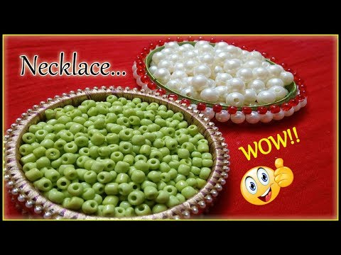 How to make Pearl Beaded Necklace || Diy & Art || jewellery making at home || Diyartiepie