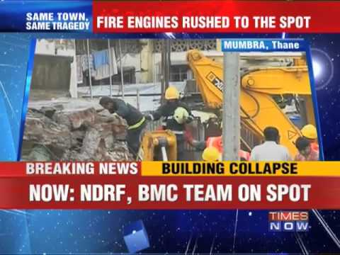 3-storey building collapses in Mumbra