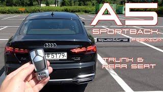 더 뉴 아우디 A5 스포트백 40 TDI 콰트로 프리미엄 트렁크 & 2열(Audi A5 sportback 40 tdi qt. prm. Trunk & rear space)