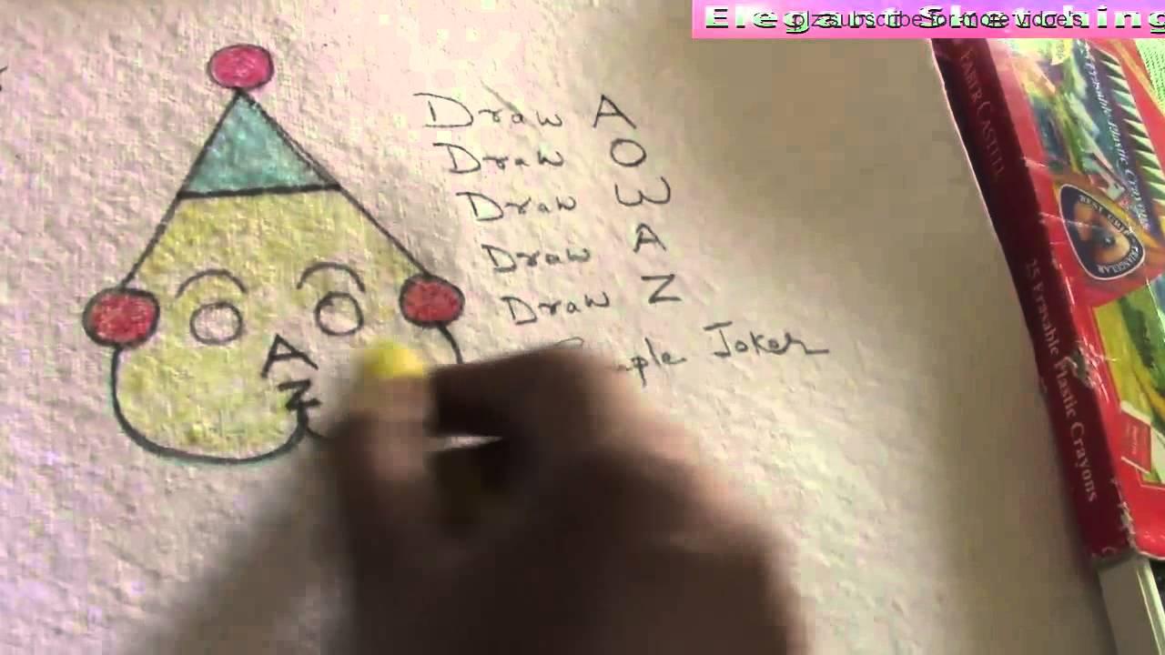 Joker Scribble Drawing : Jjoker n letters fun with easy joker drawing for