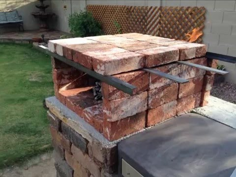 "not a cooking video! - DIY ""PORTABLE ""Brick Pizza Oven"