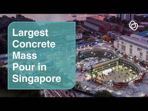 Singapore's largest two continuous concrete mass pours