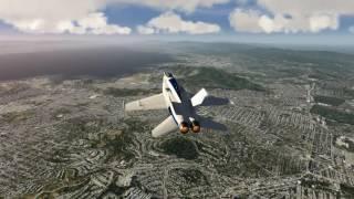 NASA F-18 Take Off San Francisco [Aerofly FS 2]