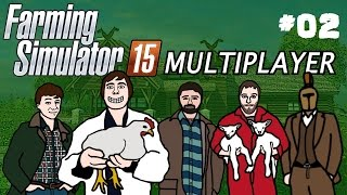 Farming Simulator 2015 Multiplayer Gameplay Part Two Tractor Racing!