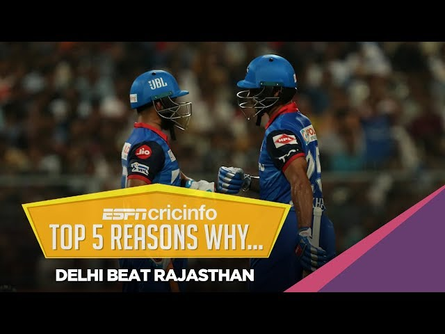 Five reasons why Delhi Capitals beat Rajasthan Royals