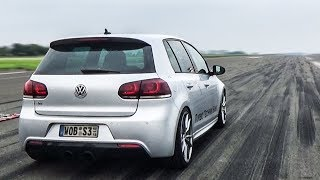 800HP Volkswagen Golf 6R R32 Turbo! Crazy Acceleration Sounds!