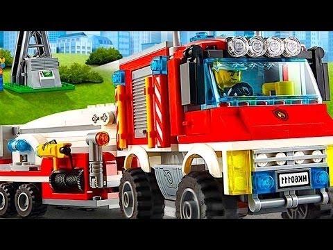 Лего Сити полиция Лего  Пожарная машина мультики про Лего для малышей Super Транспорт