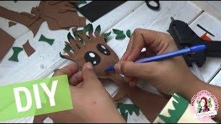 DIY Грут / Организация рабочего стола /  Back to school / Подставка под карандаши