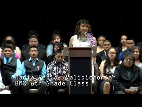 Baboquivari Middle School - 2014 8th Grade Promotion, Student Speeches