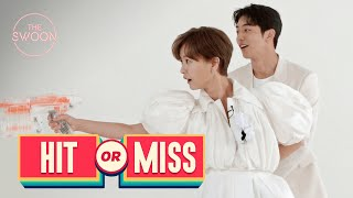 Jung Yu-mi and Nam Joo-hyuk sharpen their shooting skills with jelly bears | Hit or Miss [ENG SUB]