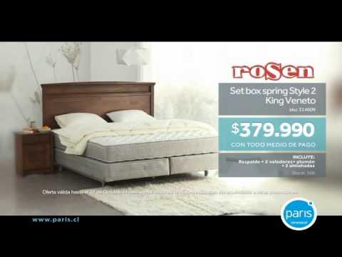 mundo del descanso box spring rosen king youtube. Black Bedroom Furniture Sets. Home Design Ideas