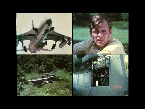 A  Downed F-105 Pilot Is Air Rescued From The Vietnamese Jungle 1967 - Restored Color