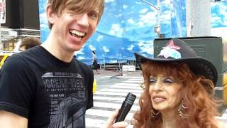 The Naked Cowgirl talks about The Naked Cowboy with Curious Sergey