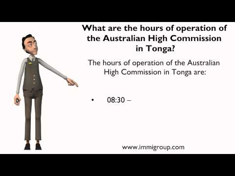 What are the hours of operation of the Australian High Commission in Tonga?