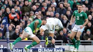 Excellent evasive running from Alex Goode relieves pressure, Ireland v England, 1st March 2015