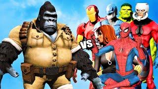 THE AVENGERS (CLASSIC) vs GIANT GORILLA-MAN