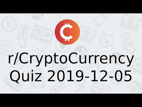 Test questions about cryptocurrency