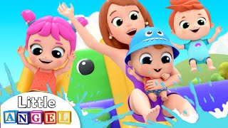 Baby Caught a Fish | Down by the Lake Song | Little Angel Nursery Rhymes