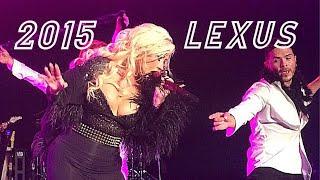 Christina Aguilera Lexus private event @ Boston (clips)