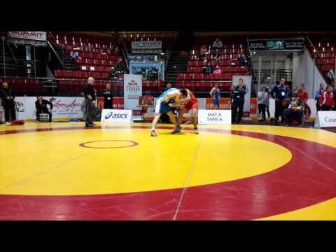 2016 Canadian Junior Championships: 74 kg Raheem Rahamatulla vs. Ty Bridgwater