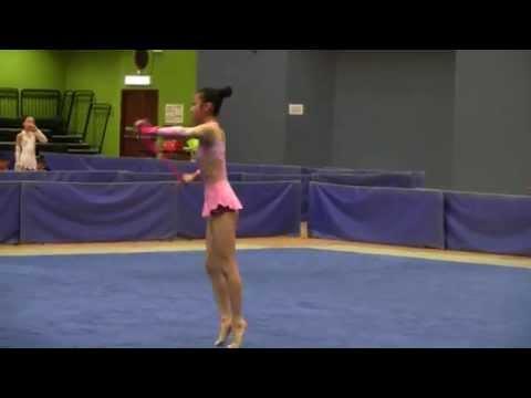 2014 全港學界藝術體操比賽 小學高級組繩操 黃敖澄